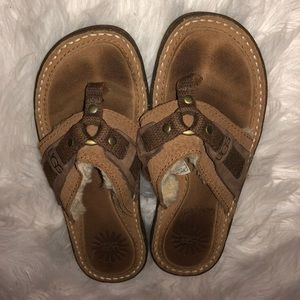 UGG Sherpa Leather Sandals